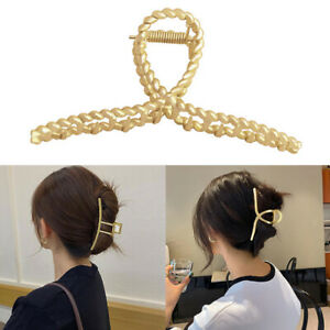 Women Hair Claw Hair Clip Hair Crab Clamp Hairgrip Gold Metal Hair Accessories