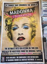 MADONNA official Promo CELEBRATION Poster 11x17 New Revolver hits  (Low shipping