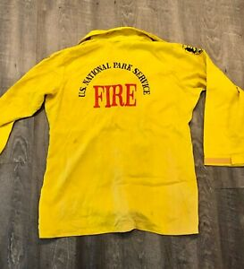 Authentic National Park Service NPS Wildland Fire Yellow Shirt Firefighter NWCG