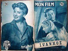 "MON FILM 1953 N 339 "" IVANHOE "" ROBERT TAYLOR- JOAN FONTAINE."