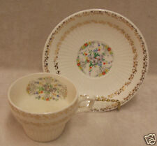 SEBRING ROYAL CHINA TEA CUP AND SAUCER FLORAL DESIGN