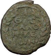 Trajan 98AD Thessalonica in Macedonia Ancient Roman Coin Wreath Rare   i36892