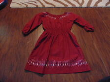 BOUTIQUE TEA COLLECTION 4 MAROON DRESS W/ SILVER ACCENTS TWINS
