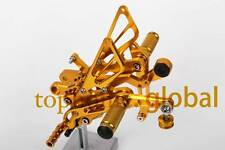 CNC Gold Foot pegs Rearsets Rear set For Yamaha YZF R6 R600 2006-2014 R6R