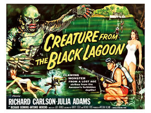 Cult Films - Creature from the Black Lagoon movie poster reprint (1954)