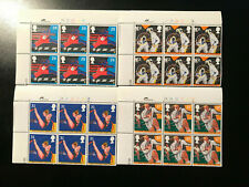 Gb Qeii Sg 1564 -67 Sports Stamps Cylinder blocks of 6 1991 Mint Unmounted Mnh
