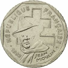 [#424823] France, Jean Moulin, 2 Francs, 1993, Paris, TTB, Nickel, KM:1062