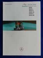 Mercedes-Benz LKW Actros 1848 LS AK - Prospekt Brochure 08.1998