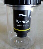 New Nikon 10X/0.25 ∞/- WD 6.1 Infinity Microscope Objective NEW!