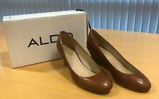 Aldo women's leather Mireldee-28 Brown shoes size Europe 39 UK 6 worn once only