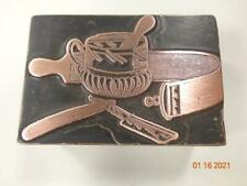 Printing Letterpress Printer Block Antique Shaving Kit Print Cut