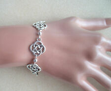 Pretty Celtic Knot and Silver Bead Bracelet in Gift Bag