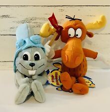Nwt 1999 The Adventure of Rocky & Bullwinkle 7� & 10� Plush
