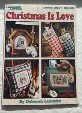 Leisure Arts Leaflet 2831 CHRISTMAS IS LOVE - Stocking Ornament Towel Pillow