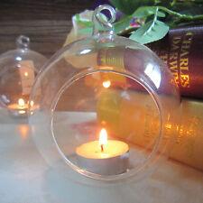 Glas Teelichthalter zum Aufhängen Hängen hängend Kerzenhalter Tischdekor DE
