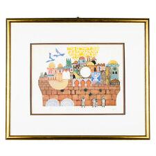 """""""Jerusalem of Gold"""" By Amram Ebgi Signed Ltd Edition #470/500 Etching w/ CoA"""