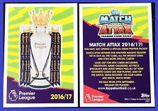 Match Attax 2016 2017 Topps Sneak Preview TROPHY Card 16 17