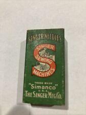 Vintage Box Singer sewing machine needles 14 Simanco new old stock Singer Mfg.