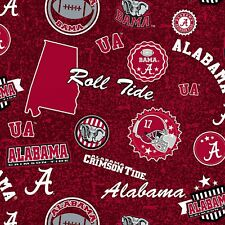 Alabama Crimson Tide Roll Tide NCAA Home State Fabric-AL-1208-$9.49/yard