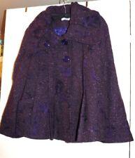 Manteau court violet paletot bohème fantaisie Femme Je Vous Aime taille 44 - TBE