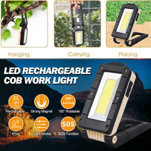 LED Work Light COB Inspection Magnetic Torch USB Rechargeable For Car Garage UK