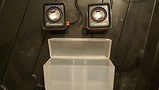 SONY ERICSSON N12878 SPEAKERS - BLACK & ORANGE MOBILE PHONE PORTABLE SPEAKERS