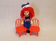 Barbie Collector Pink Label Tommy Dressed as Raggedy Andy Doll with 2 Red Chairs