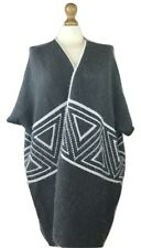 Women Sleeveless  Aztec Cardigan Poncho Wrap One Size