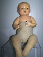 "Vintage EFFANBEE COMPOSITION DOLL CRIER BABY Walk Talk Sleep 19""  TLC"