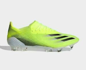 adidas Soccer X GHOSTED.1 FIRM GROUND BOOTS FW6898 Yellow Core Black