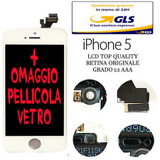 LCD COMPLETO PER APPLE IPHONE 5 BIANCO CON DISPLAY RETINA ORIGINALE FRAME TOUCH
