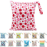 Pockets Wet Dry Bag Baby Cloth Diaper Nappy Bag Pouch Cartoon Mommy Storage