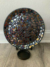 PartyLite Aurora Mosaic Wall Sconce / Stand Pillar Candle Holder P90975