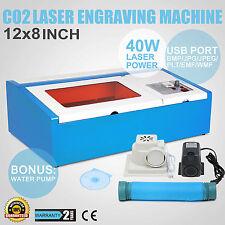40W CO2 Laser Graviermaschine Gravurmaschine Engraver Schneidemaschine Engraving