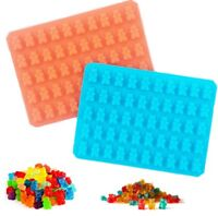 50 Cavity Silicone Mould Mini Gummy Bear Sweet Chocolate Candy Jelly Treats