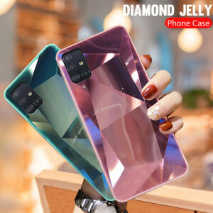 For Samsung S21 S20 FE A21S Note 20 A51 A71 A32 Diamond Mirror Hard Case Cover