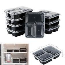 10x Meal Prep Plastic Food Storage Freezer Take Away Food Container Storage Box