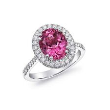 Natural Unheated Pink Spinel 3.42 carats set in 18K White Gold Ring