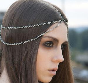 Frauen Strass Kopf Kette Schmuck Stirnband Kopfschmuck Kopfschmuck Haar Dekor XI