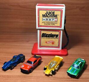 Vintage Hot Wheels Sizzlers Cars Lot & Juice Machine Redline Mattel
