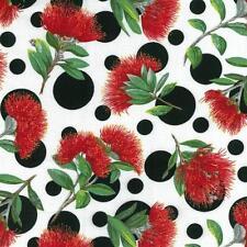 Fat Quarter Pohutukawa Spot (New Zealand Christmas Flower) Quilting Fabric