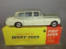 DINKY TOYS  MODEL No.198 ROLLS-ROYCE PHANTOM V   FIRST TYPE  BOX VN MIB