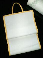 Porte rouleaux sopalin essuie tout à broder point de croix aida 5.5 vichy jaune