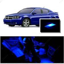 For Dodge Avenger 2008+ Blue LED Interior Kit + Blue License Light LED