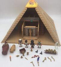 Playmobil 4240 Egyptian Pharaoh's Pyramid with Hidden Traps, Skeleton, Egyptians