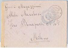 47677 - ITALIA COLONIE: CIRENAICA - Storia Postale: BUSTA  a Milano 1916