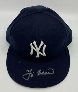 Yogi Berra Signed NY Yankees Hat Cap Autographed AUTO Sz 7 1/4 JSA COA HOF