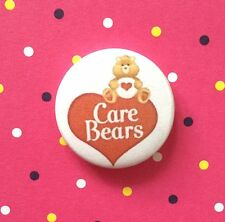 1 Inch Cute Care Bear Vintage Heart Logo on a  button pin badge