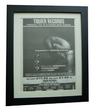 THERAPY+Troublegum+Nowhere+POSTER+AD+RARE ORIGINAL 1994+FRAMED+FAST+GLOBAL SHIP