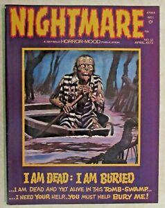 VINTAGE NIGHTMARE  COMIC MAGAZINE - ISSUE #12 - APRIL 1973 - VERY NICE COPY